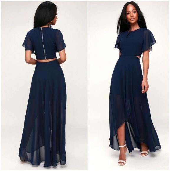4de4e3983336 ALI & JAY Dresses | Ali Jay Navy Blue Highlow Dress Lulus | Poshmark